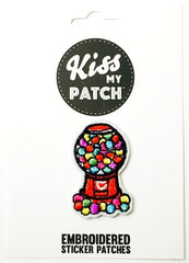 Gumball Machine Embroidered Adhesive Patch