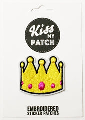 Crown Embroidered Sticker Patch