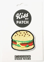 Burger Embroidered Sticker Patch