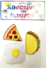Pizza, Taco & Egg Sticker Patch Set