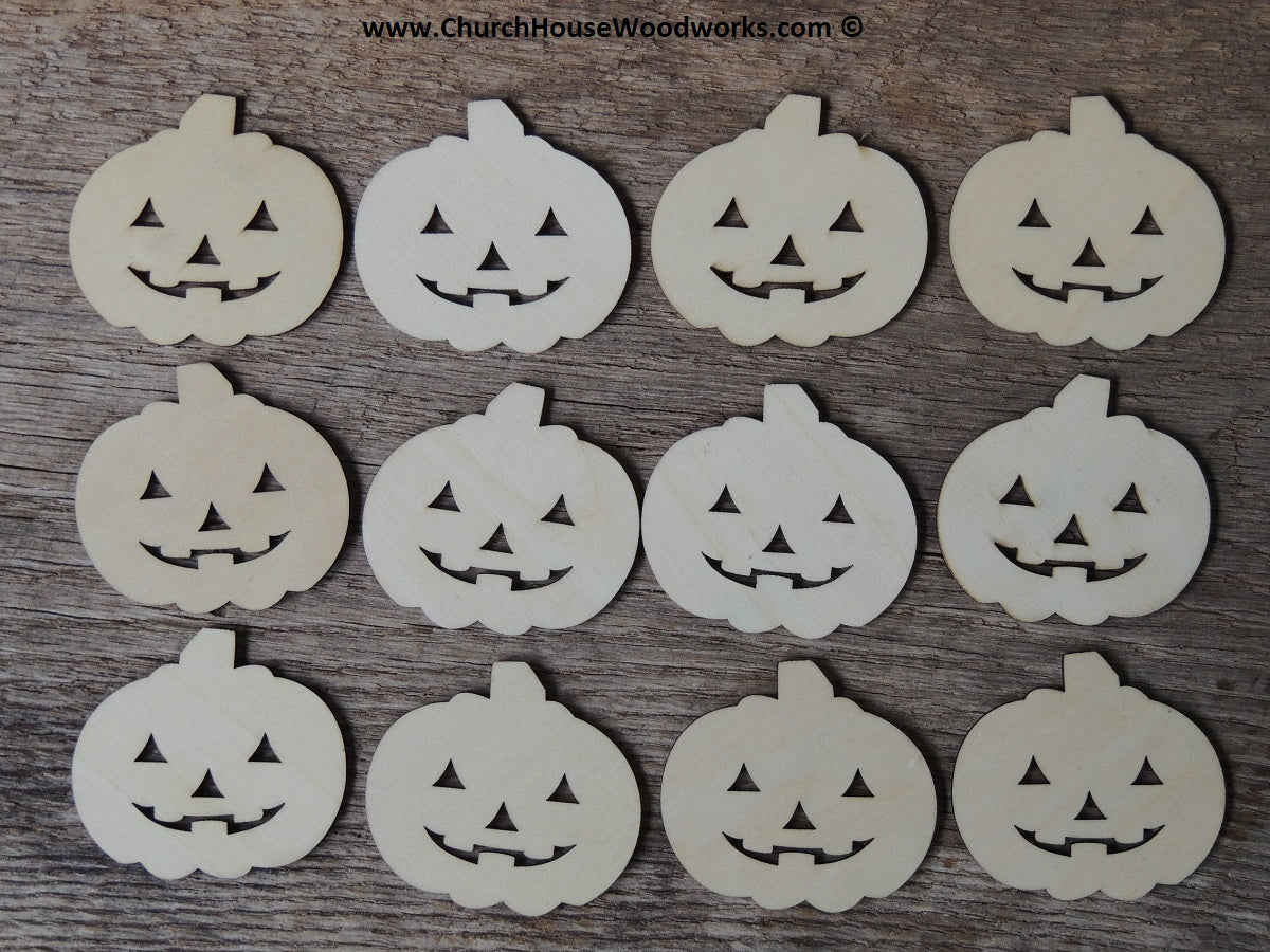 Wood Craft Pumpkin Jack-o-Lantern shapes for Halloween Fall