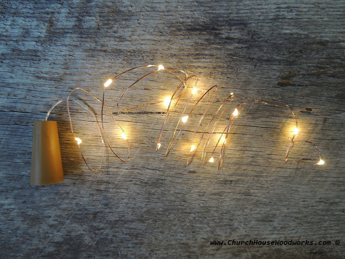 Wine Bottle Cork Lights Warm White on Copper Wire for Weddings Receptions Decor