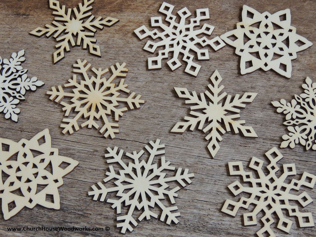 DIY Wood Snowflake Ornament Supplies