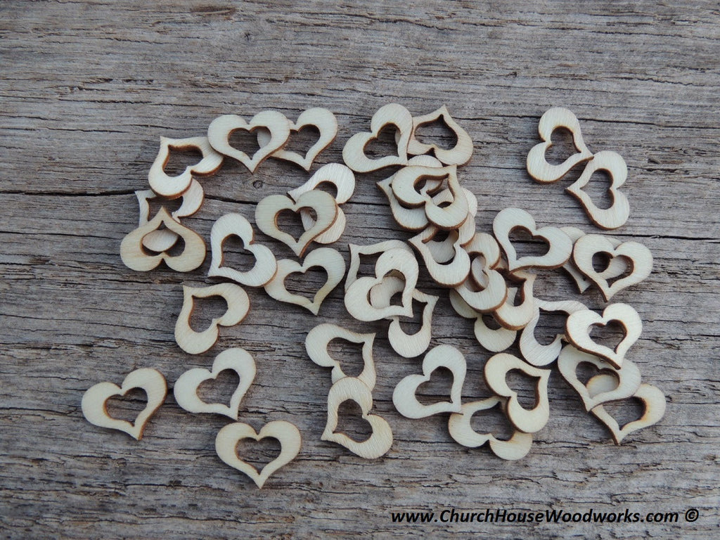 Hollow Wood Heart Confetti