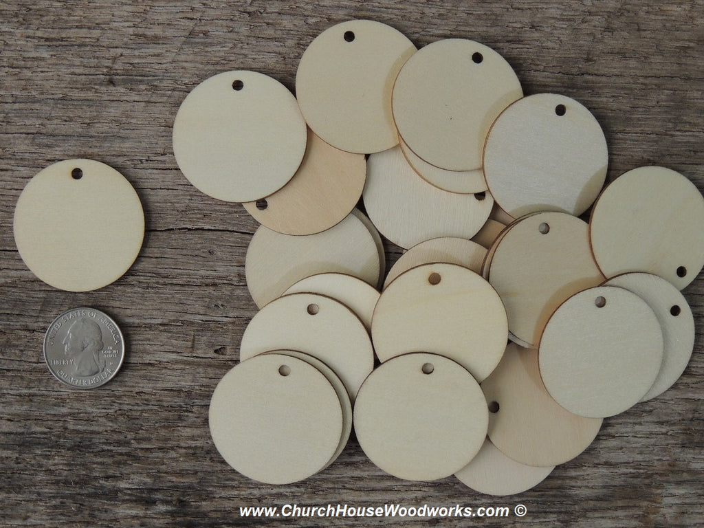 Wood craft disc 2 inch for coins checkers game pieces scarpbooking 1 hole 1.5 inch tags