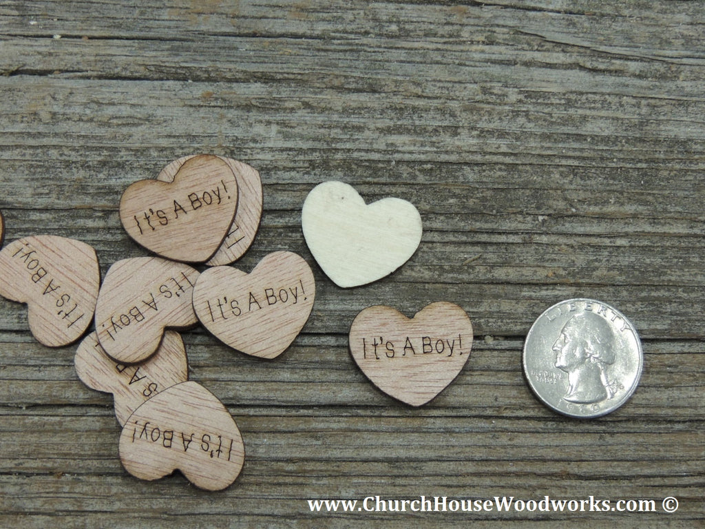 It's A Boy wood heart for Baby showers