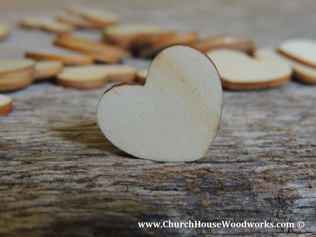 Blank Wood Burned Hearts for Rustic Weddings