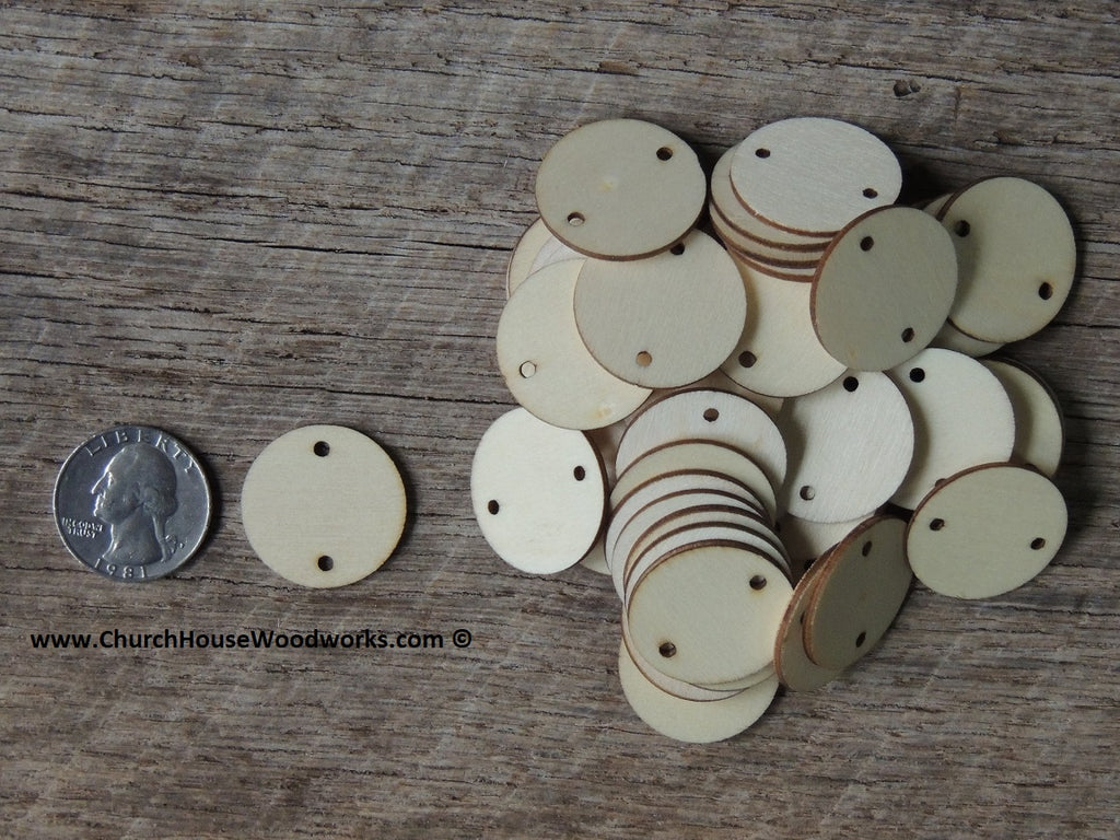 Wood craft disc 2 inch for coins checkers game pieces scarpbooking 2 hole tags ornaments