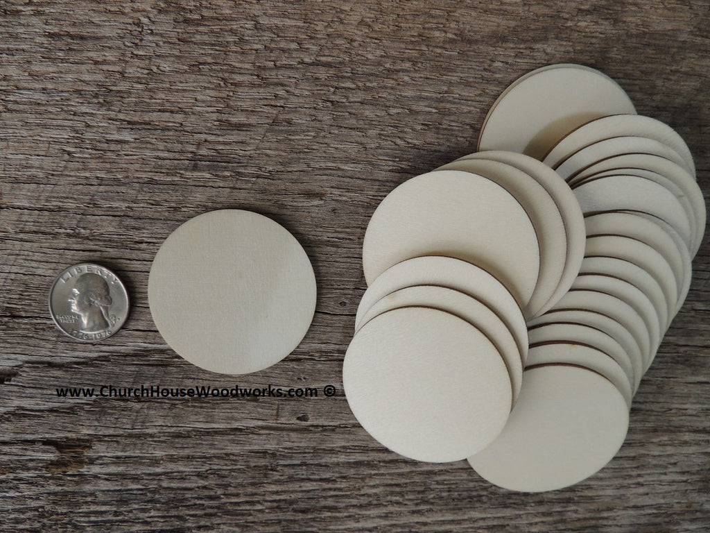 2 inch wood craft circles ornament making scrapbooking crafts 2