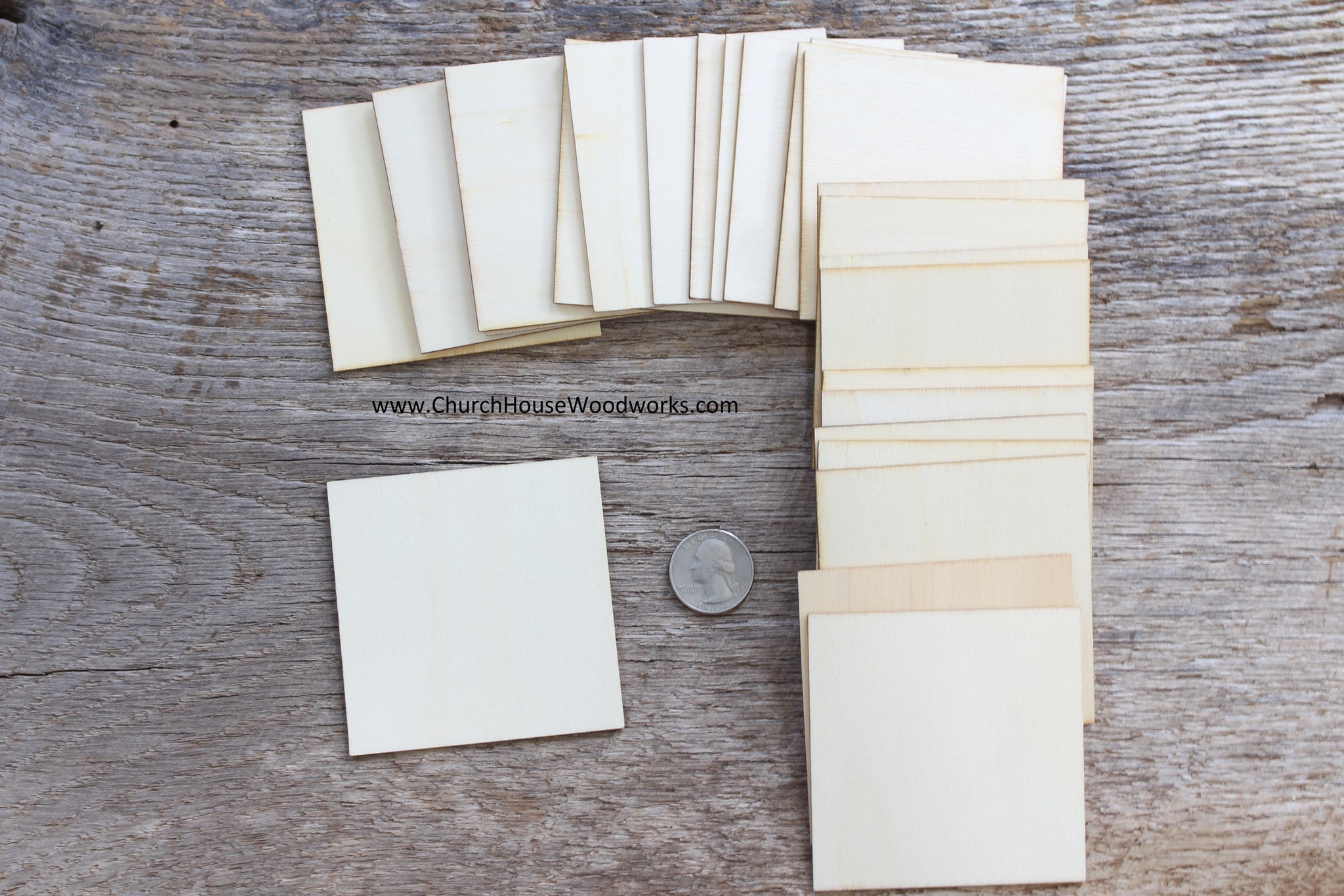 3 inch wood craft square blanks