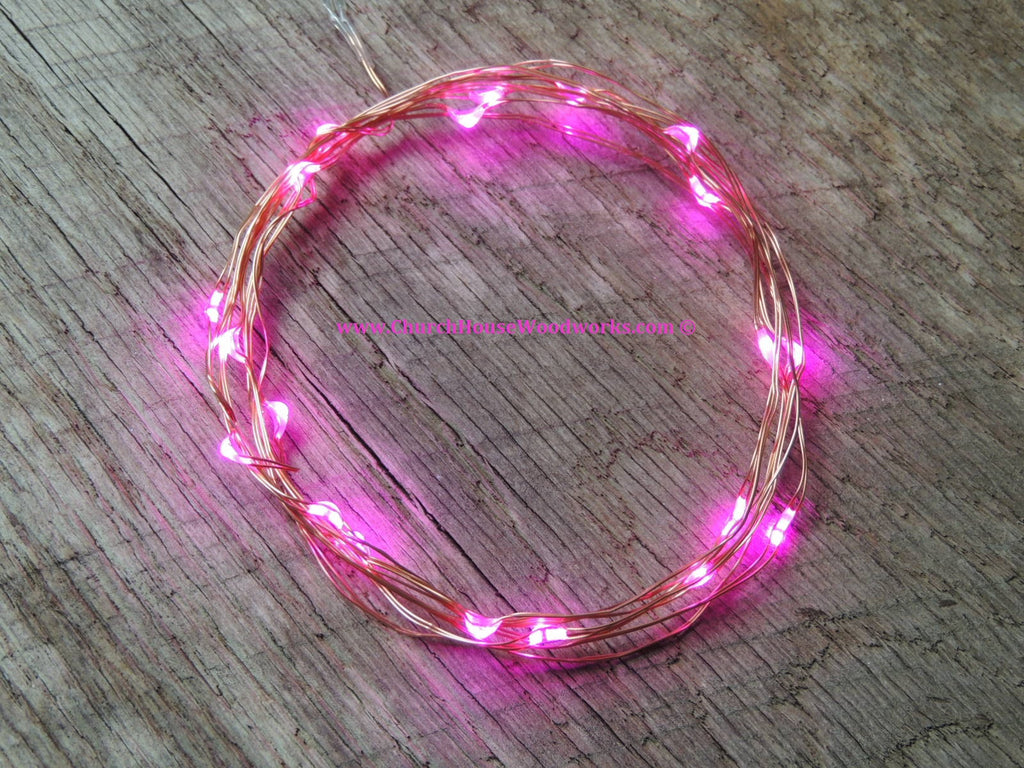 LED Fairy String Lights for rustic weddings wreaths mason jars pink