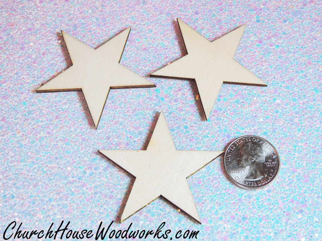 Wooden Star Christmas Tree Ornaments by ChurchHouseWoodworks.com