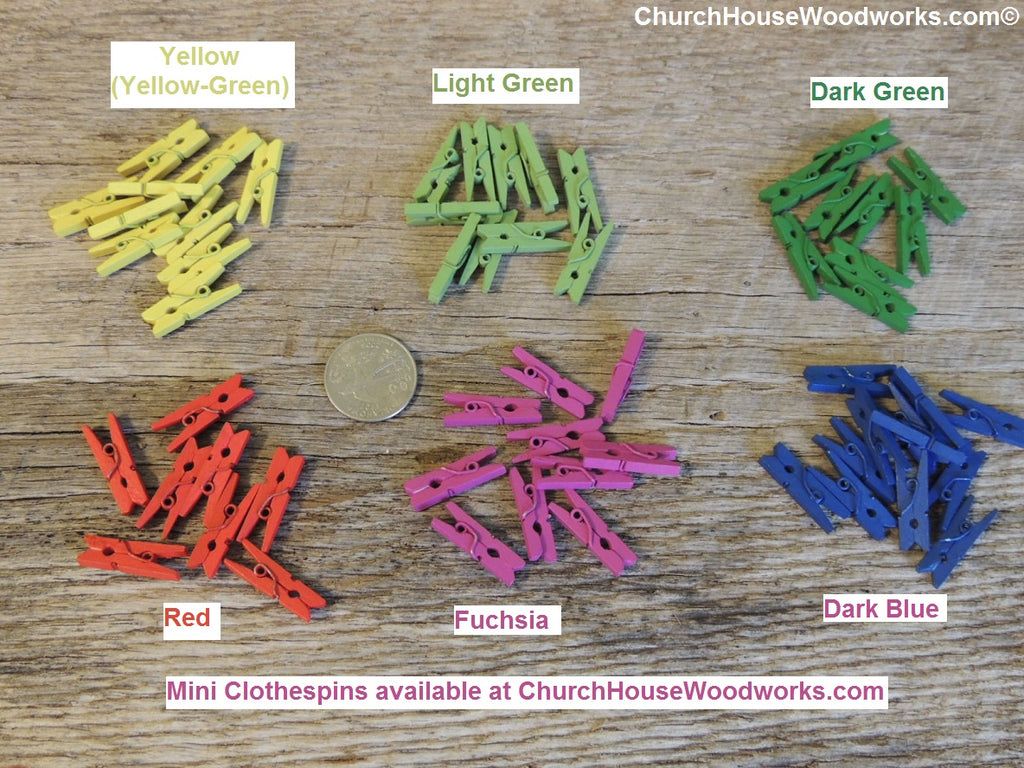 Red Wooden Mini Clothespins By ChurchHouseWoodworks.com Great For Diy  Projects, Crafts, Weddings
