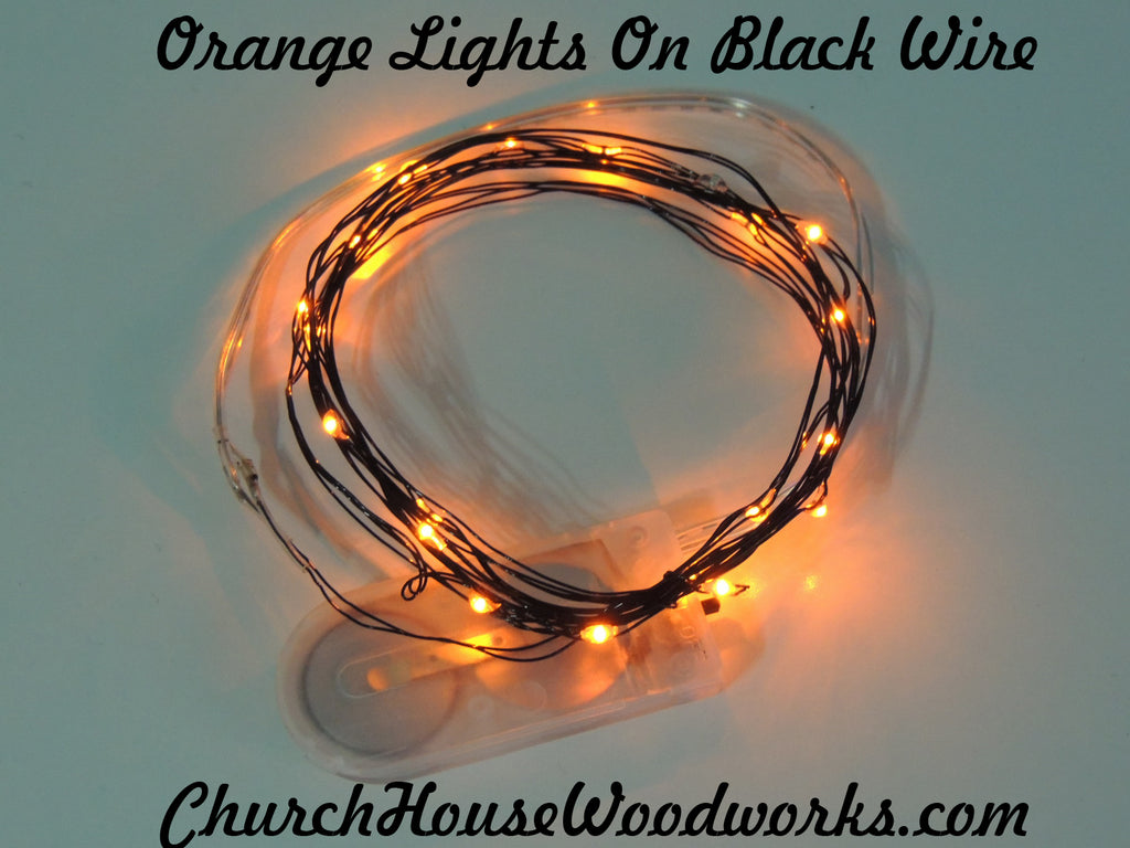 Orange LED Battery Operated Fairy Lights for Weddings for Bedroom Decorations