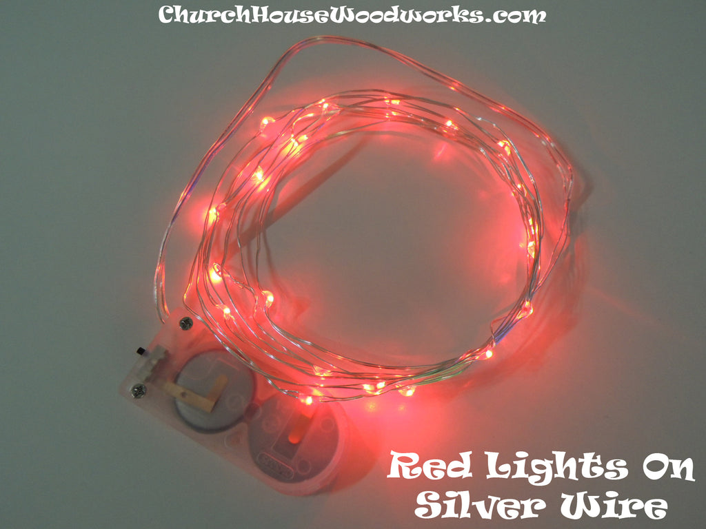 Red LED Battery Operated Fairy Lights for Weddings for Bedroom Decorations