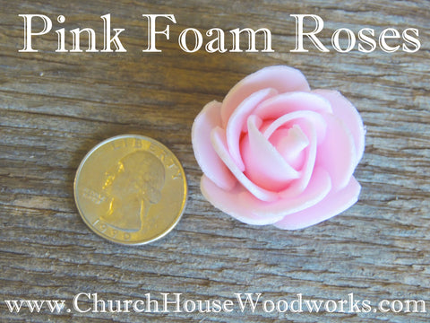 Pink Pastel Foam Flower Roses Confetti Table Decorations Scatter Church House Woodworks DIY Do it yourself