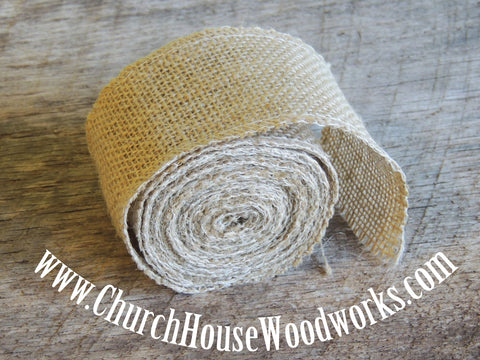 Jute Ribbon Burlap Trim For Rustic Wedding Decorations Centerpieces by Church House Woodworks