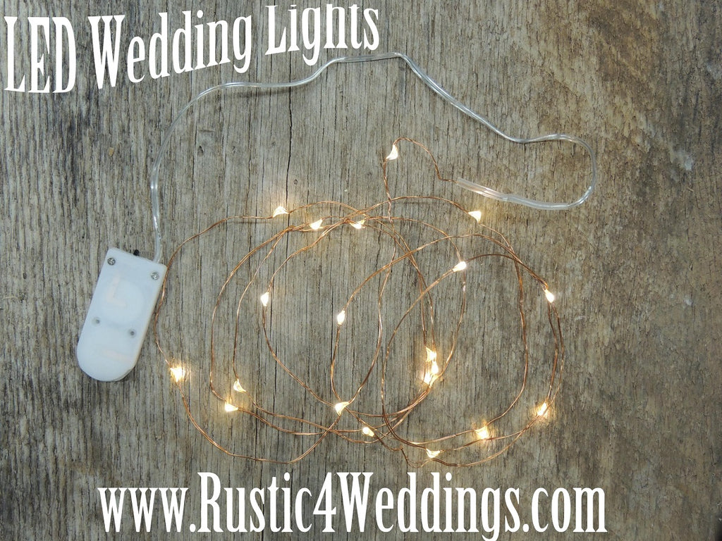 Warm White Fairy Lights on Copper Wire by ChurchHouseWoodworks.com & Battery Fairy Lights - Bedroom Fairy Lights Wedding u2014 Church House ...