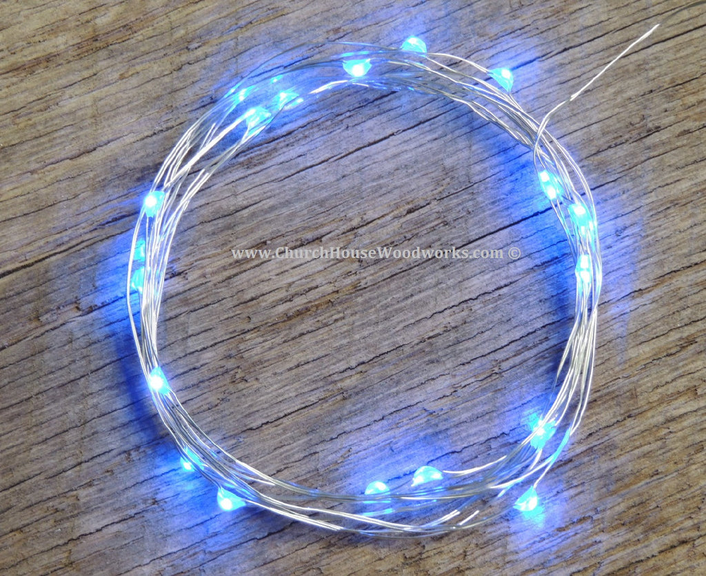 LED Fairy String Lights for rustic weddings wreaths mason jars Blue