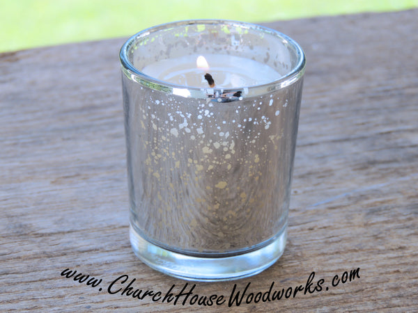 Silver Mercury Glass Votive Holders Rustic Weddings