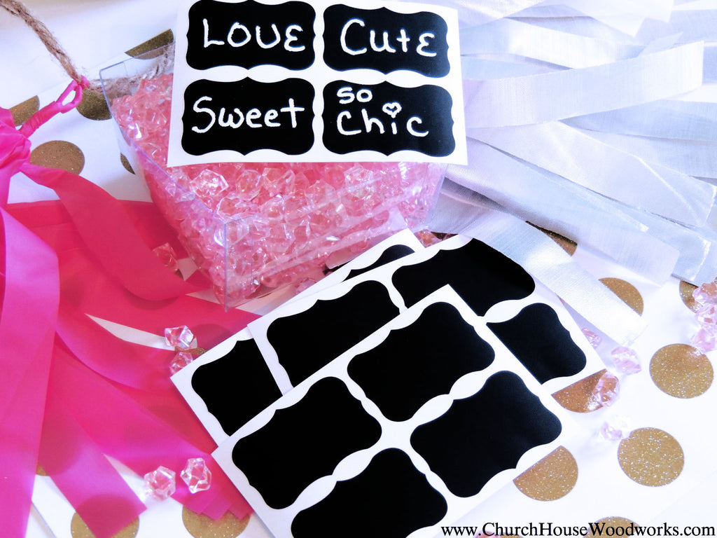 Chalkboard Stickers For Weddings