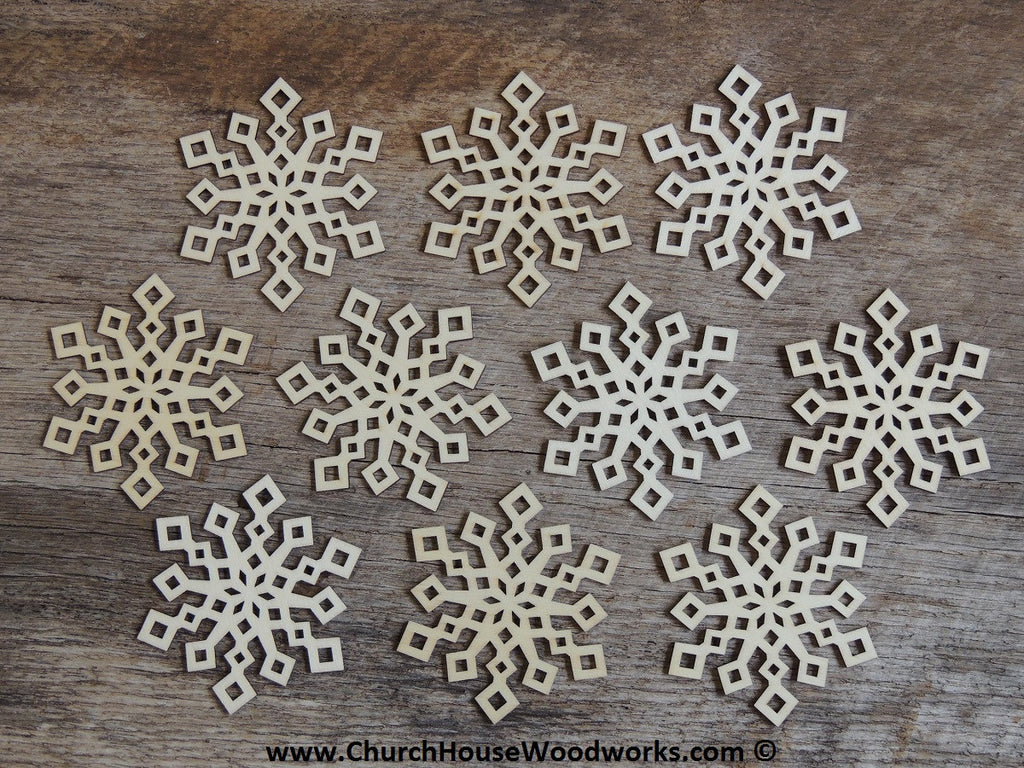 Wood Snowflake DIY Craft Supply Woodcraft Ornament