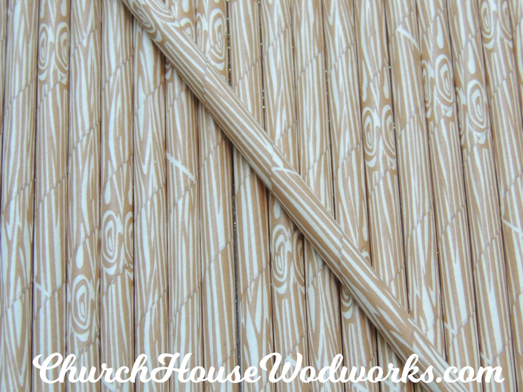 Tree bark natural wood grain paper straw for weddings parties events showers decorations