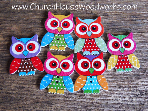Owl Wood Buttons By Church House Woodworks