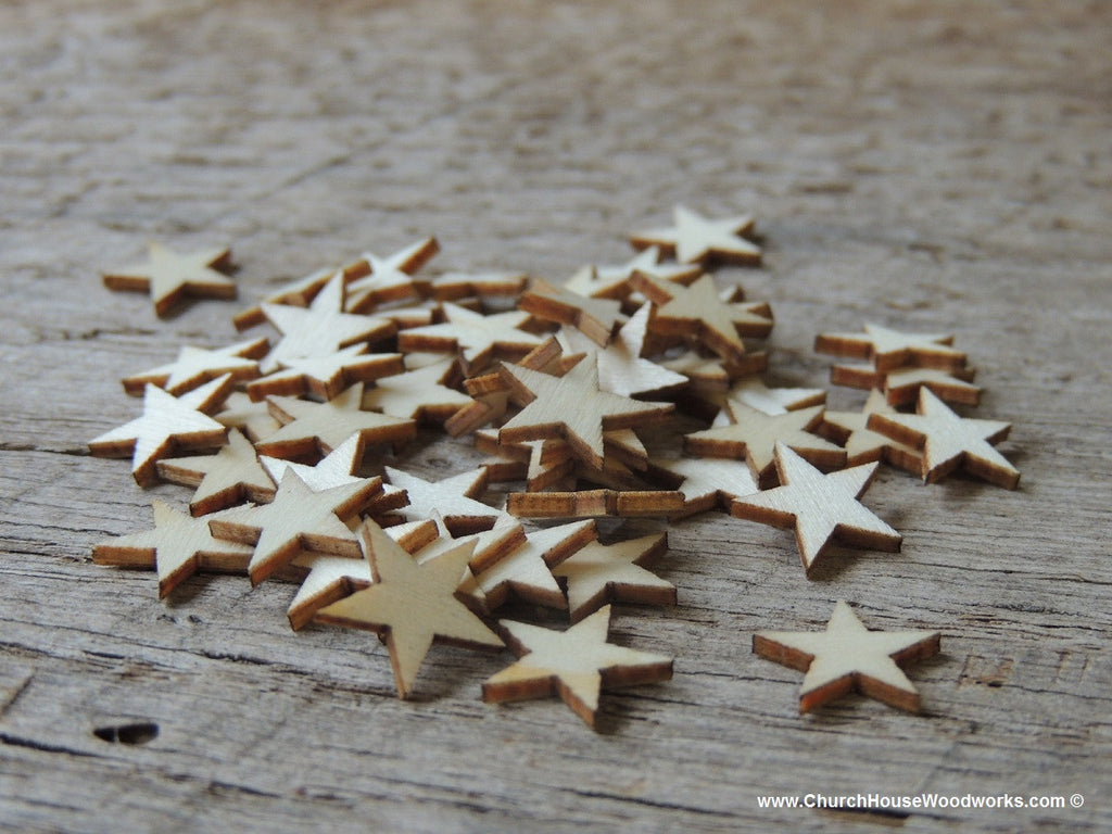 wooden stars little half inch size for crafts and decorations Christmas Flags