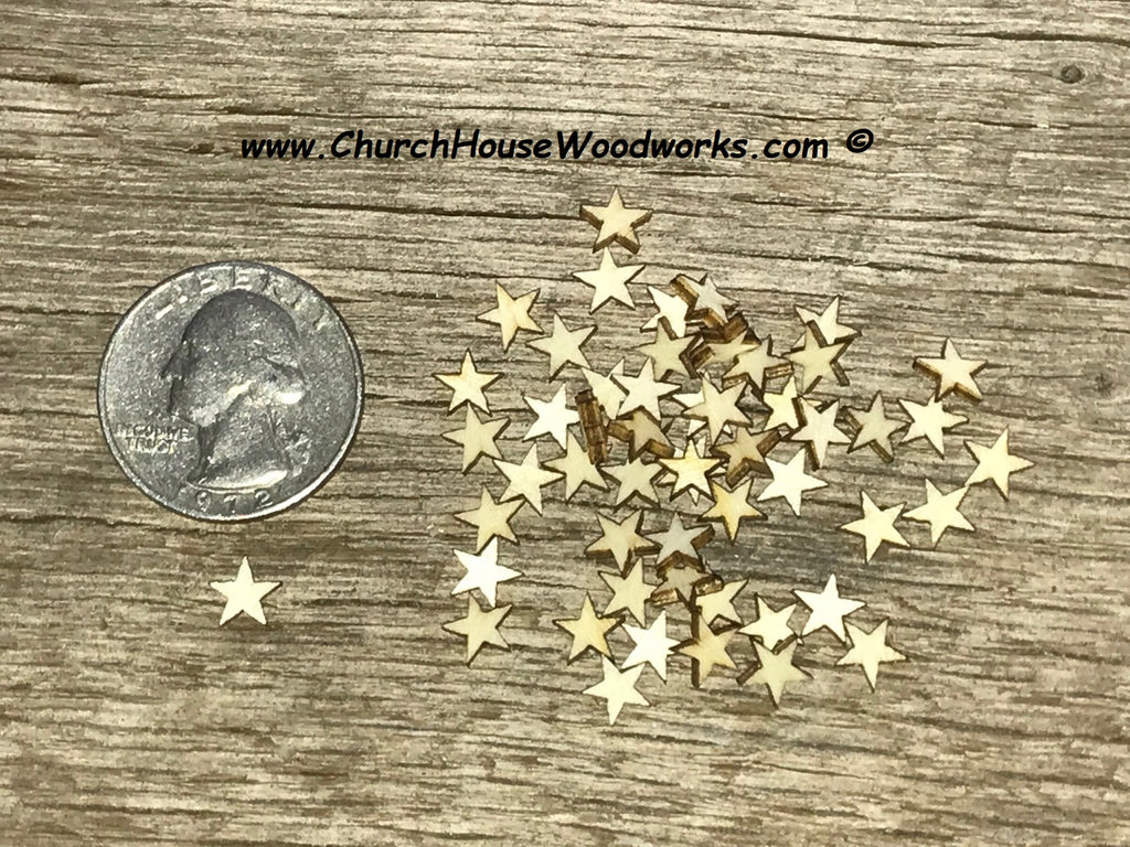 super tiny quarter inch wood stars for wood flags crafts diy woodworking embellishments woodcrafts
