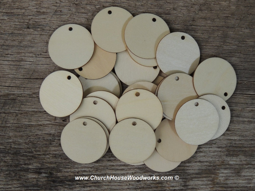 Wood Craft TAGS - 50 ct - 1-1/2 inch