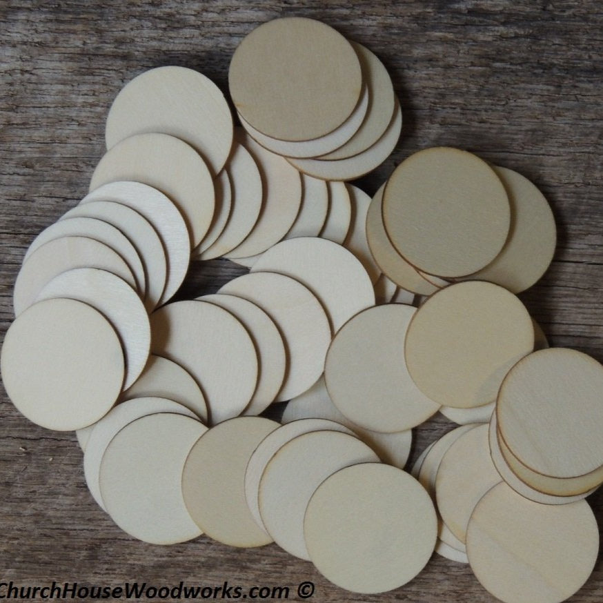 Wood Craft CIRCLES - 50 ct - 1-1/2 inch