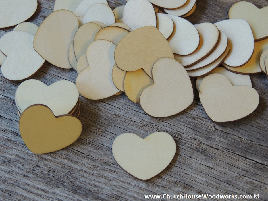 1 inch large blank wood heart tags for weddings anniversary showers decor