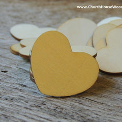 Blank Wood Hearts - 100 ct - 1-1/2 inch