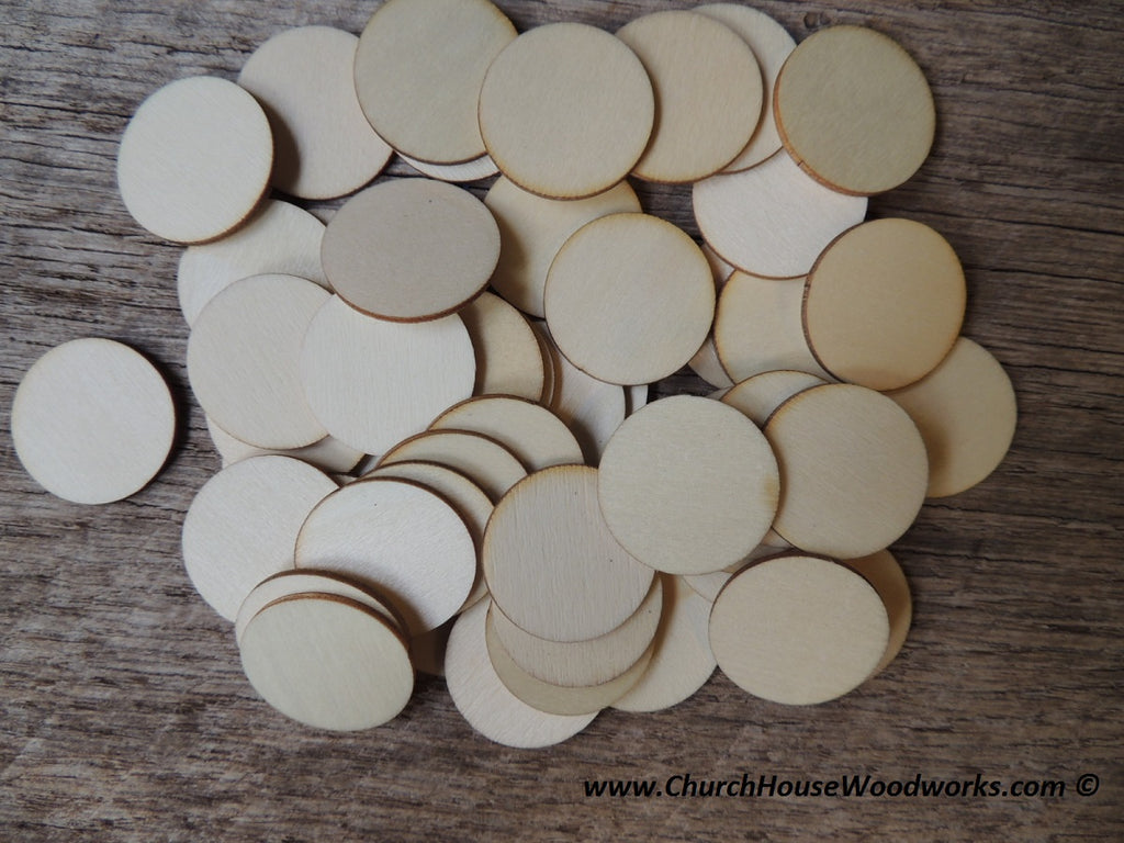 Wood Craft CIRCLES - 50 ct - 1 inch