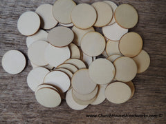 1 inch wood circle wooden coin craft disk DIY