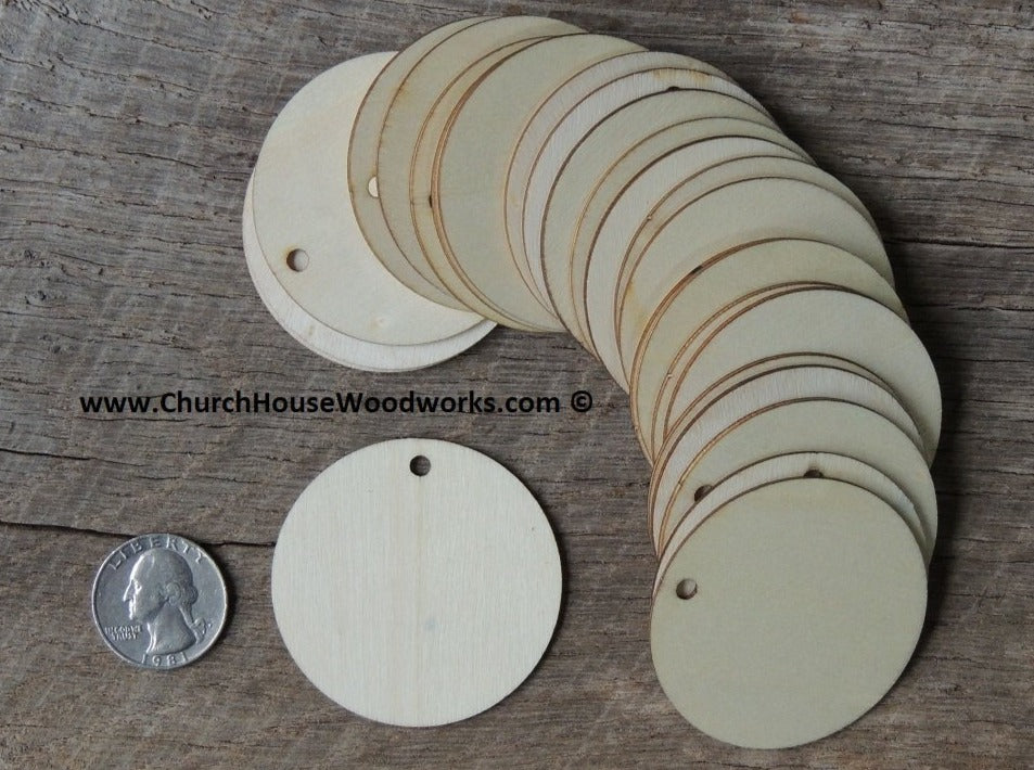 Wood Craft TAGS - 25 ct - 2 inch