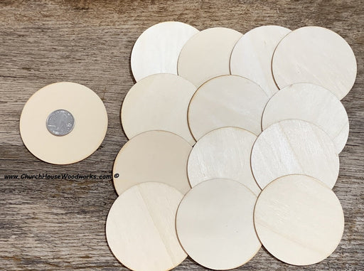 3 inch wood circles craft wood pieces ornaments weddings ornaments Christmas crafts 25 count