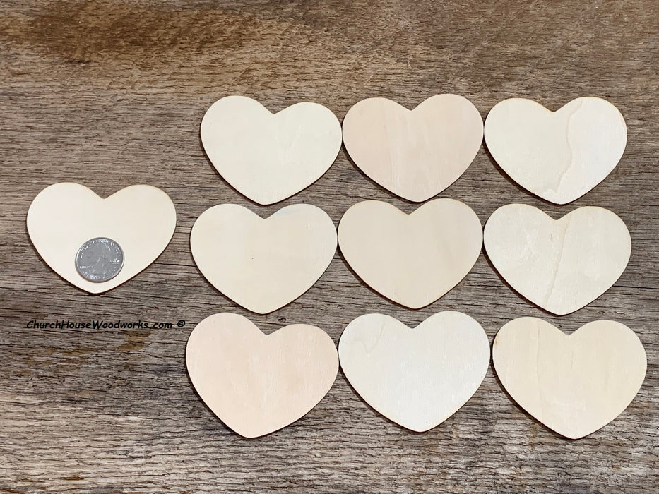 3 inch wood hearts for crafts weddings signs decor guestbook art ornaments family