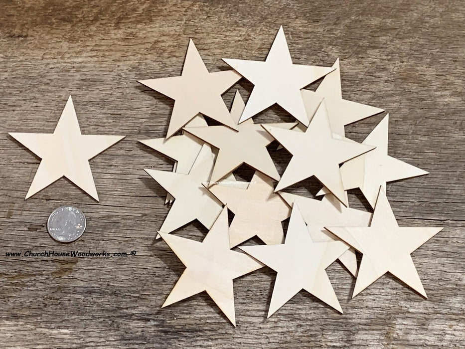 3 inch wood stars for wooden flags