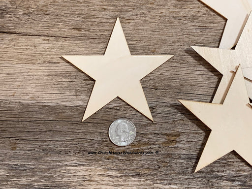 4 inch wood stars for wooden flags crafts art embellishments Christmas ornaments