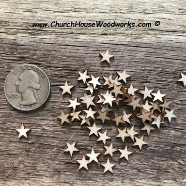 five sixteenths wood stars for flag making crafts diy wooden flags tiny star