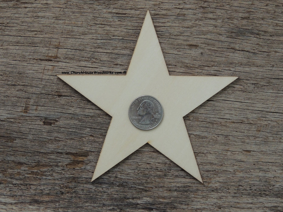 5 inch wood stars for wooden flags Christmas crafts ornaments woodworking