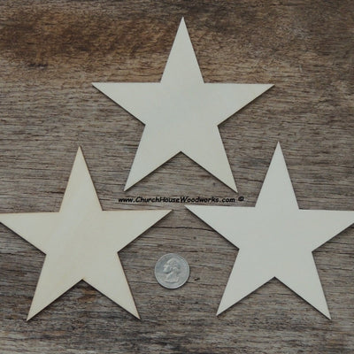 5 inch wood stars for wooden flags