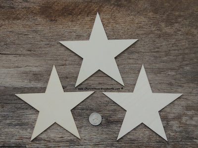 6 inch wood stars for wooden flags Christmas crafts ornaments woodworking