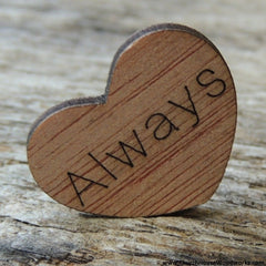 Always Wood Hearts - 100 ct - 1 inch