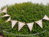 Burlap Candy Bar Flag Bunting Banner