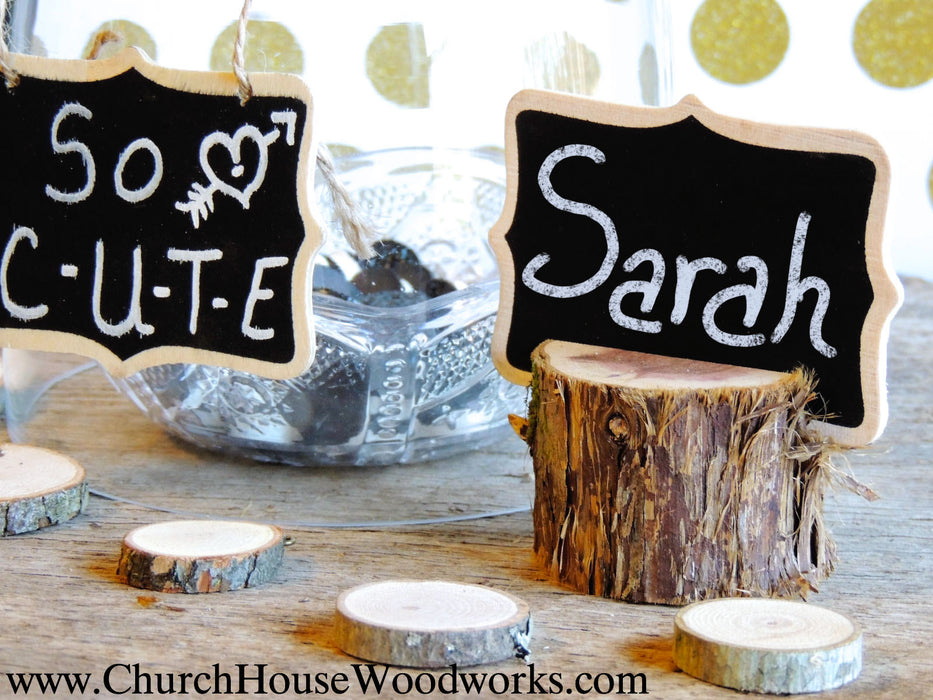 12 Rustic Cedar Place Card Holders