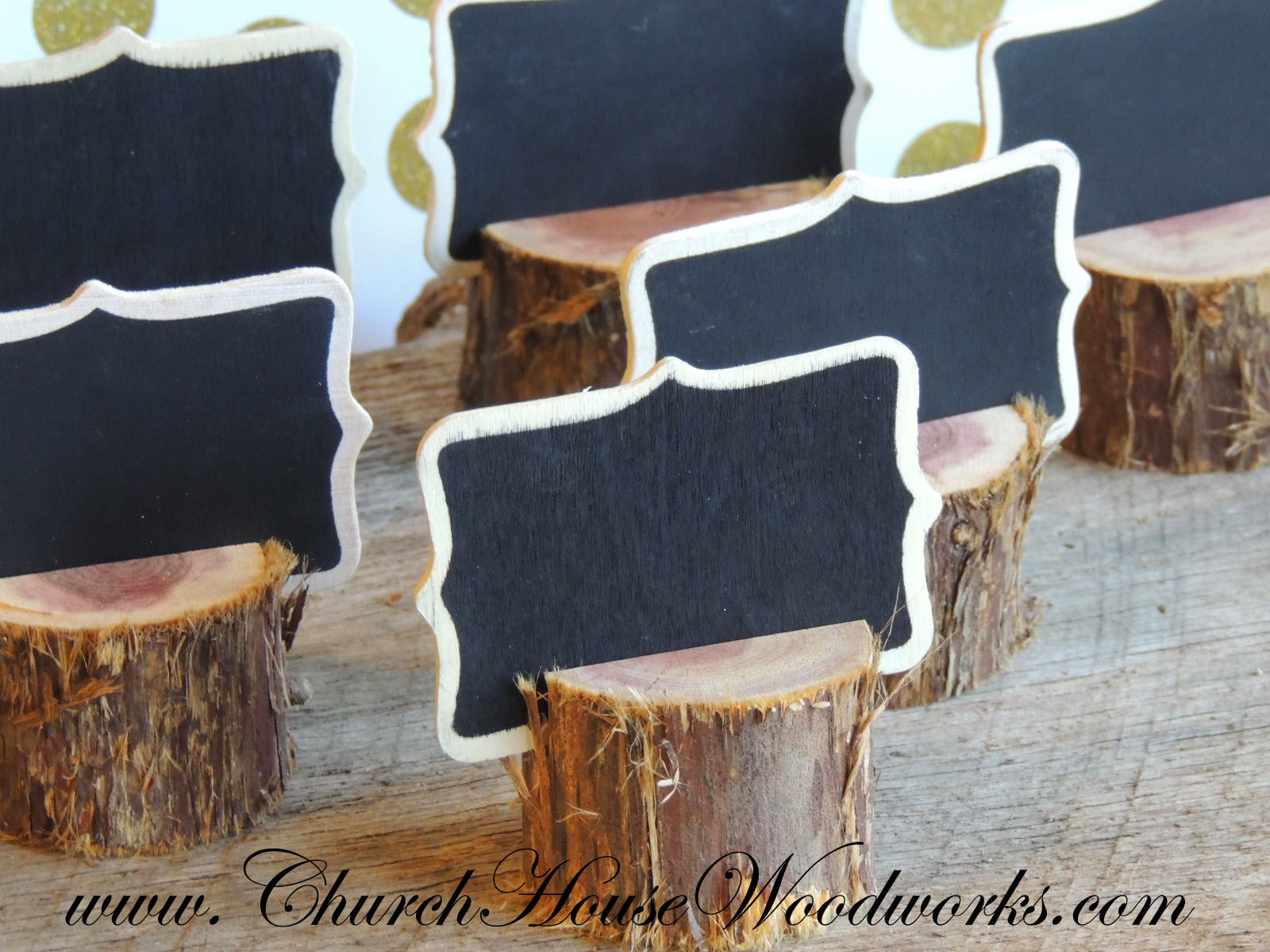 boho chic rustic cedar place card holders tribal