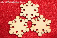 Wooden Snowflake Christmas Ornaments